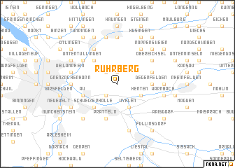 map of Rührberg