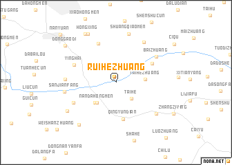 map of Ruihezhuang