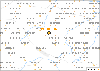 map of Rukaičiai