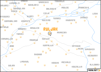 map of Ruljak