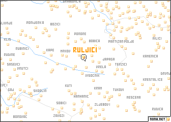 map of Ruljići