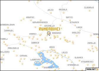 map of Rumenovići