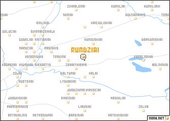 map of Rundžiai