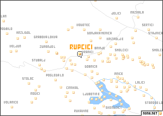 map of Rupčići