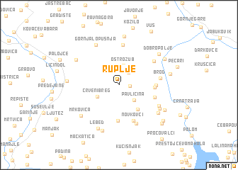 map of Ruplje