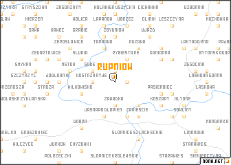 map of Rupniów