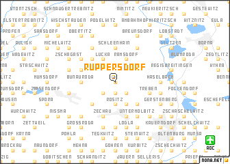 map of Ruppersdorf