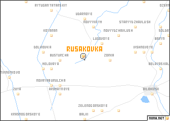 map of Rusakovka