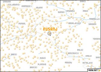 map of Rusanj