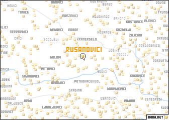 map of Rusanovići
