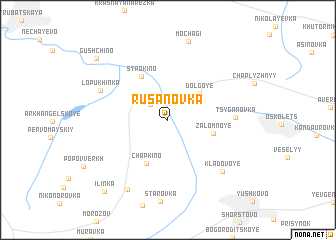 map of Rusanovka