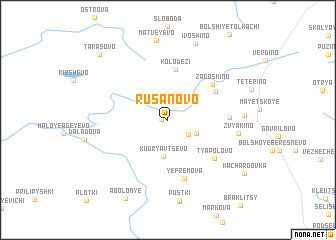 map of Rusanovo