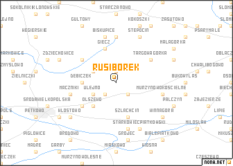 map of Rusiborek