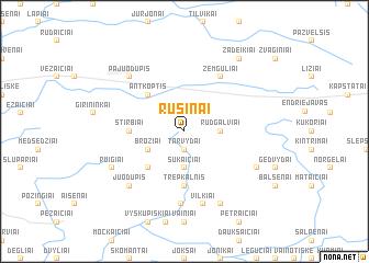 map of Rusinai