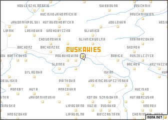 map of Ruska Wieś