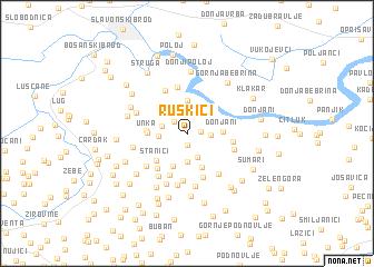map of Ruškići