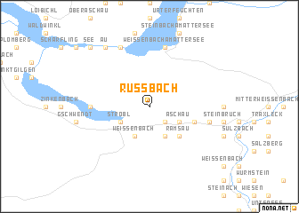map of Russbach
