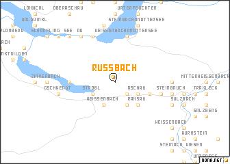 map of Russbach