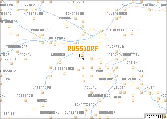 map of Russdorf