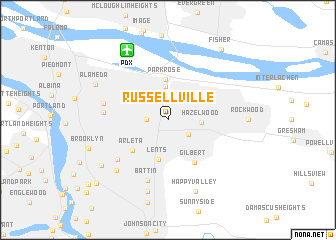 map of Russellville