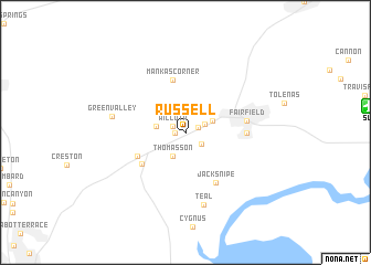 map of Russell