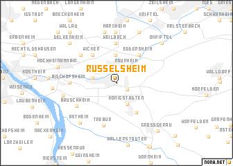 map of Rüsselsheim