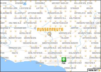 map of Russenreute