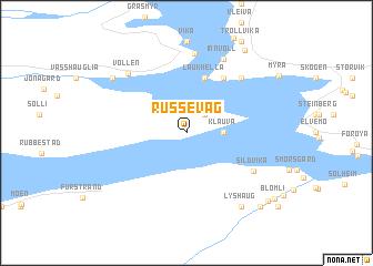 map of Russevåg