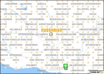 map of Rußmaier