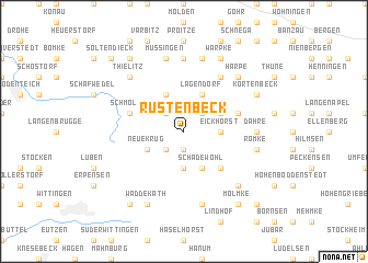 map of Rustenbeck