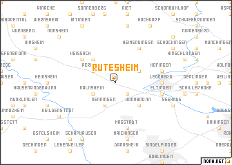 map of Rutesheim