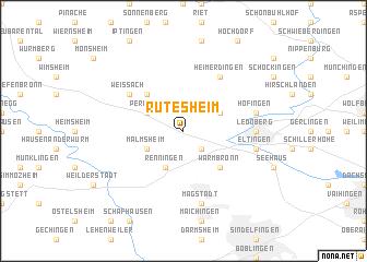 map of Rutesheim