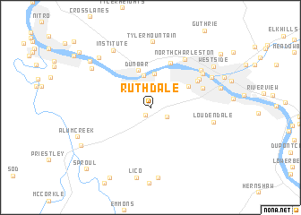 map of Ruthdale