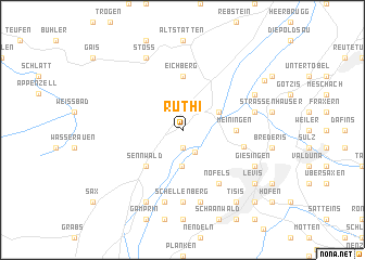 map of Rüthi