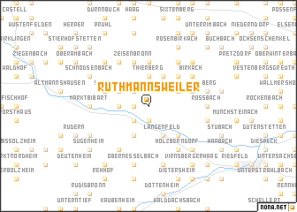 map of Ruthmannsweiler