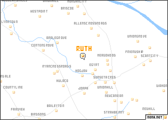 map of Ruth