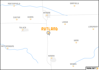 map of Rutland