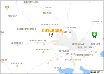 map of Rutledge