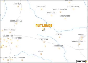 map of Rutledge