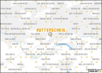map of Rüttenscheid