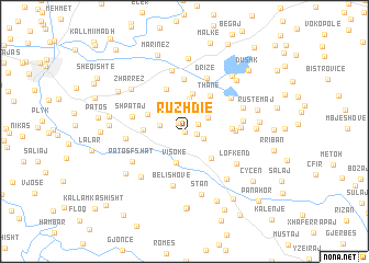 map of Ruzhdie