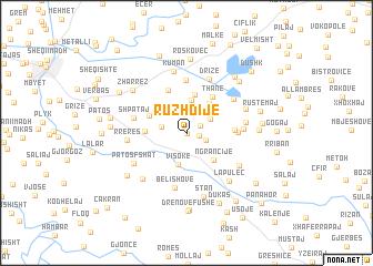 map of Ruzhdijë