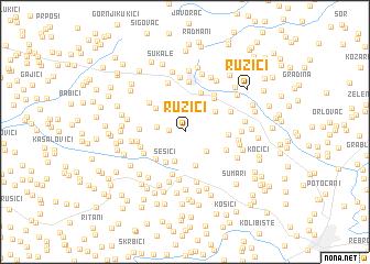 map of Ružići