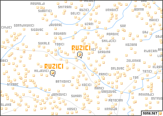 map of Ružići