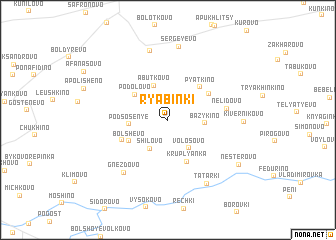 map of Ryabinki