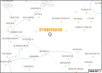 map of Ryabinovka