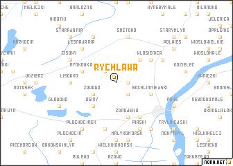 map of Rychława