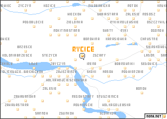 map of Rycice