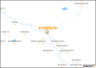 map of Rykonets