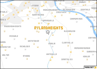 map of Ryland Heights